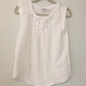 Lucky brand 100% cotton front knitted tank size S